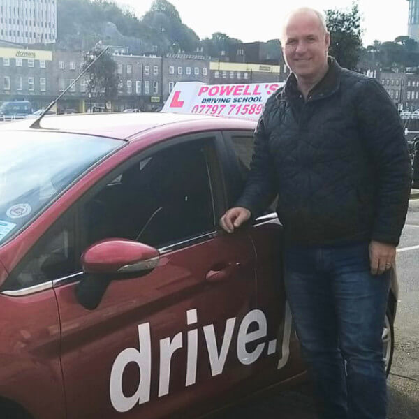 Driving instructor Gary Powell